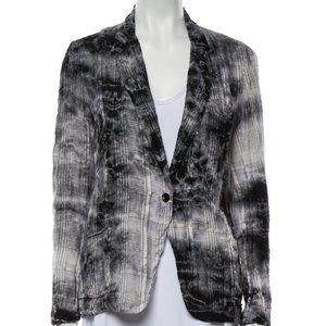 New RAQUEL ALLEGRA Tie Dye Silk Plaid Blazer